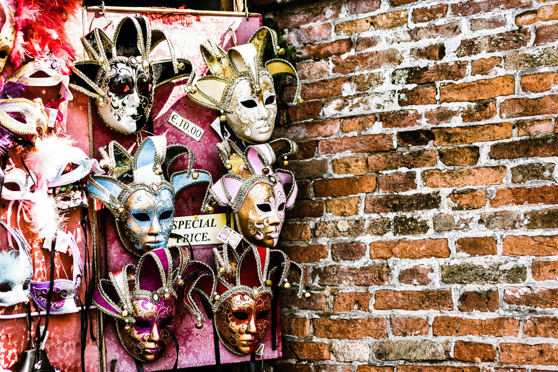Venedig berühmte Masken