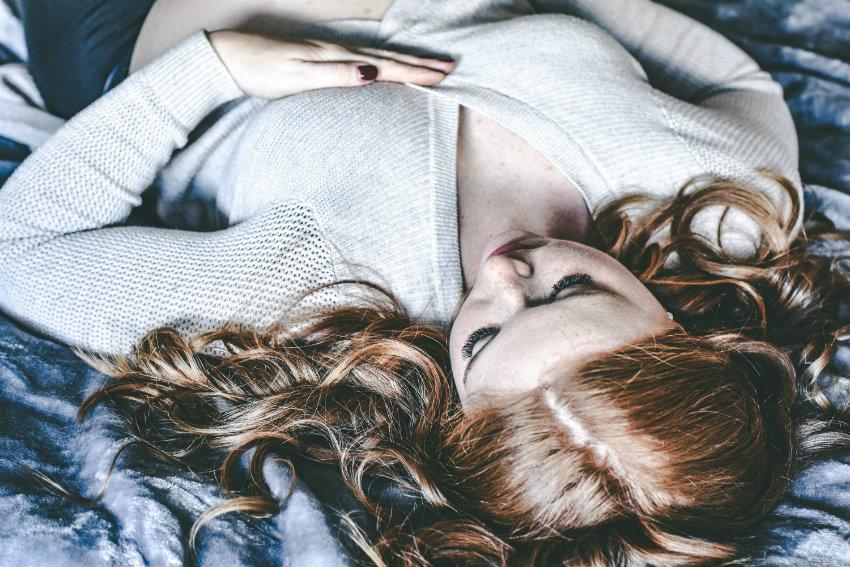Schlafende im Gedankenkarussell