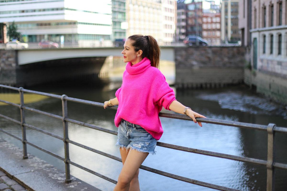 Pinker Pullover Zara