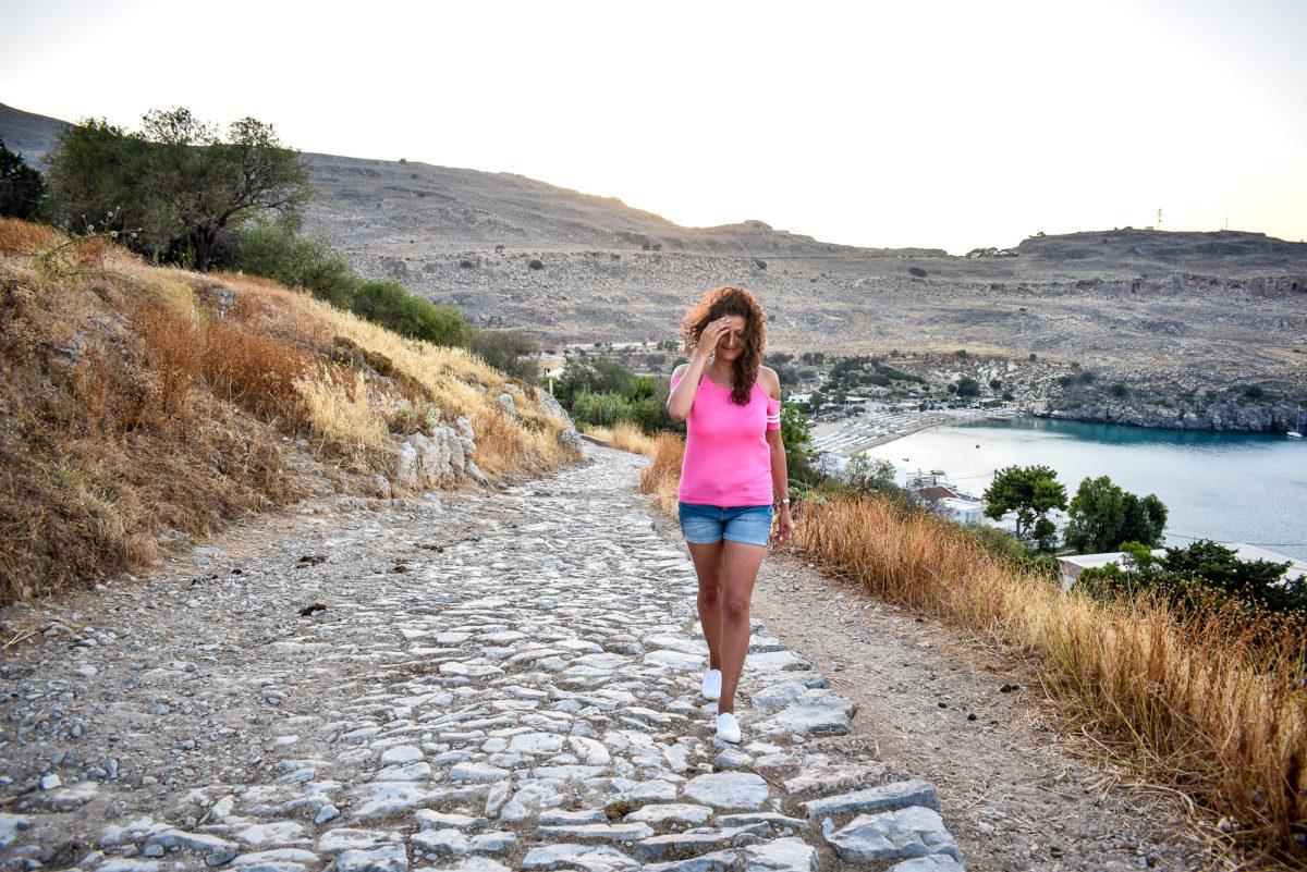 Spaziergang auf Rhodos Griechenland