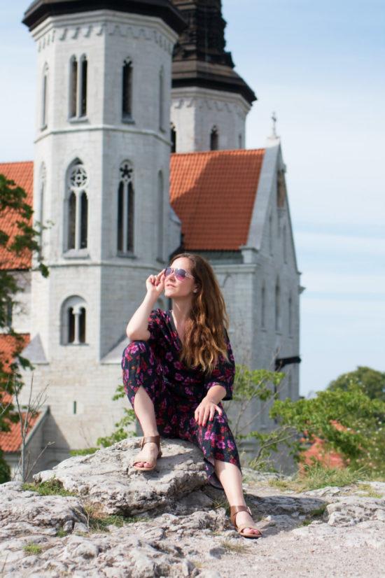 Visby ist eine historische Mittelalter-Stadt